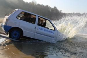 auto te water cursus